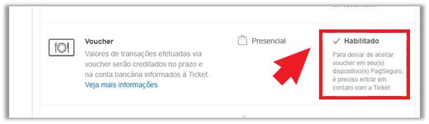Ticket habilitado