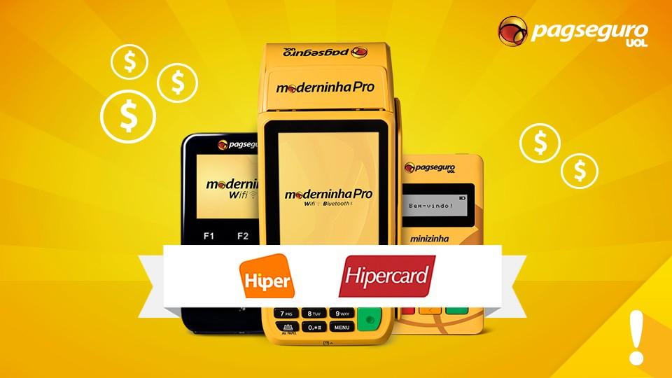 Como aceitar Hiper e Hipercard via chip com PagSeguro