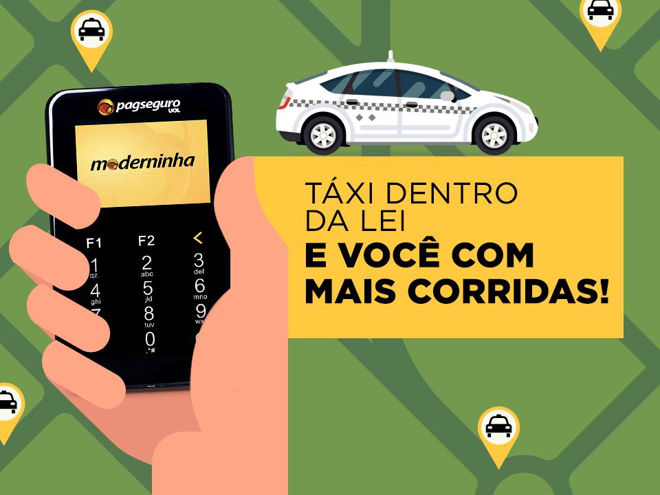 taxista venda com cartão de crédito
